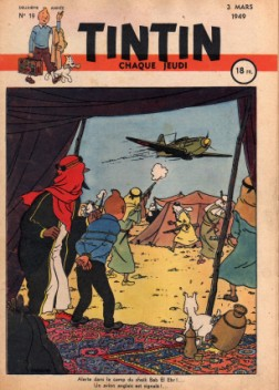 couverture du journal de tintin